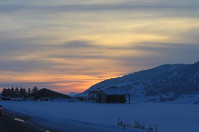 Last views of the sun just outside of Preston Idaho