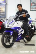 on Yamaha YZF-R15