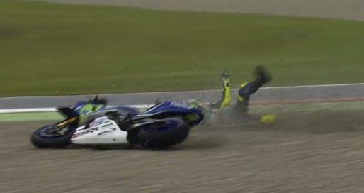rossi assen 2016 crash