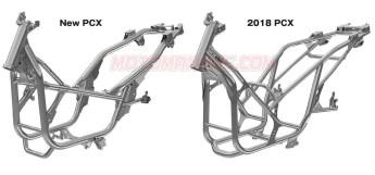 All New PCX 160 2021 rangka