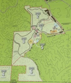 Large Printed Map of Moto Mountain Park, ATV Trails