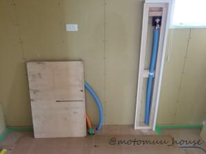 上棟30日目洗濯機水栓