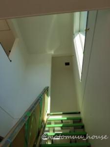 上棟44日目手階段と吹き抜け