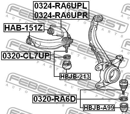 Sworzeń wahacza zestaw naprawczy rover 600 600 rh 620 Sdi