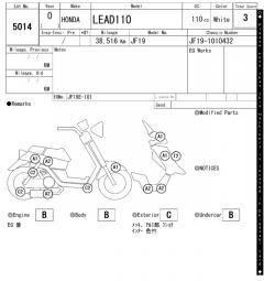Honda LEAD110 110 см