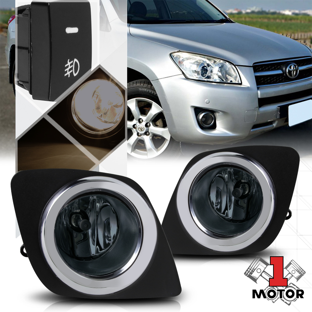 hight resolution of smoked lens fog light bumper lamps w switch harness bezel for 09
