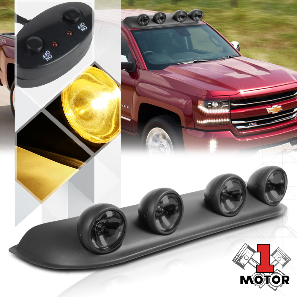hight resolution of smoked lens universal 4x4 off road roof mount fog light lamp w switch