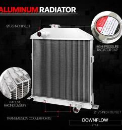 aluminum 3 row performance radiator for 42 48  [ 1000 x 1000 Pixel ]