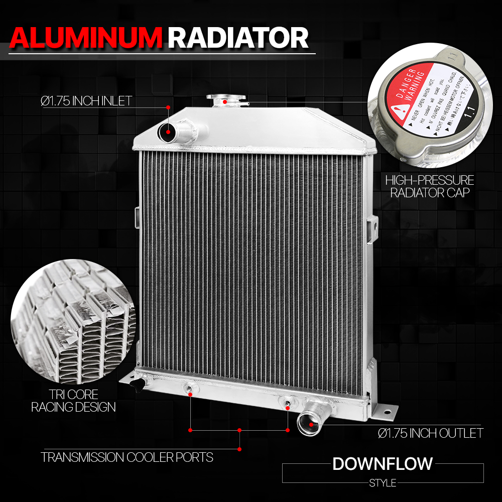 medium resolution of aluminum 3 row performance radiator for 42 48