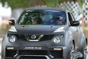 nissan juke-r goodwood hill climb front