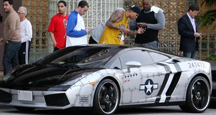 Chris Brown's Lambo