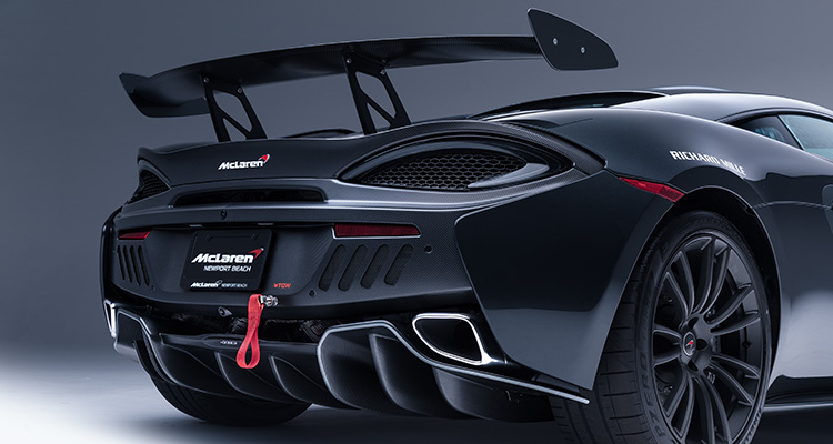McLaren MSO X rear wing