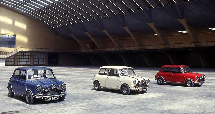 Mini Coopers The Italian Job