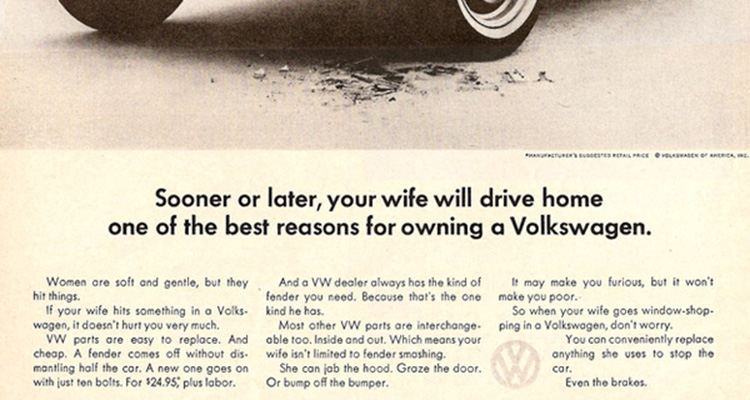sexist vw bug ad for husbands