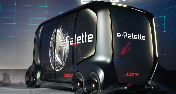 toyota e-palette electric concept rear