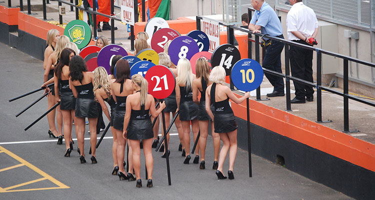 Donington grid girls