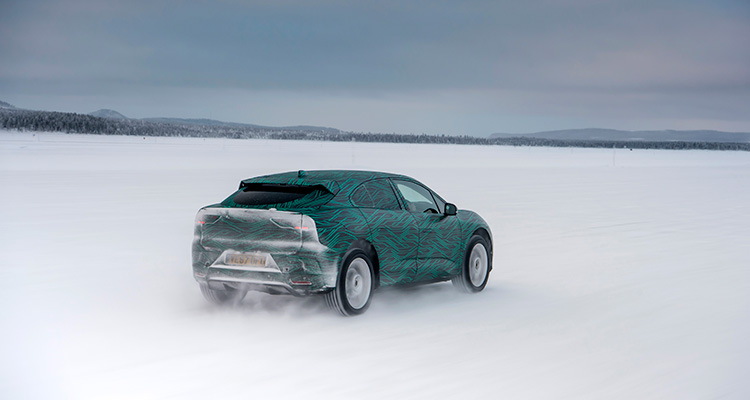Jaguar I-Pace Winter testing rear