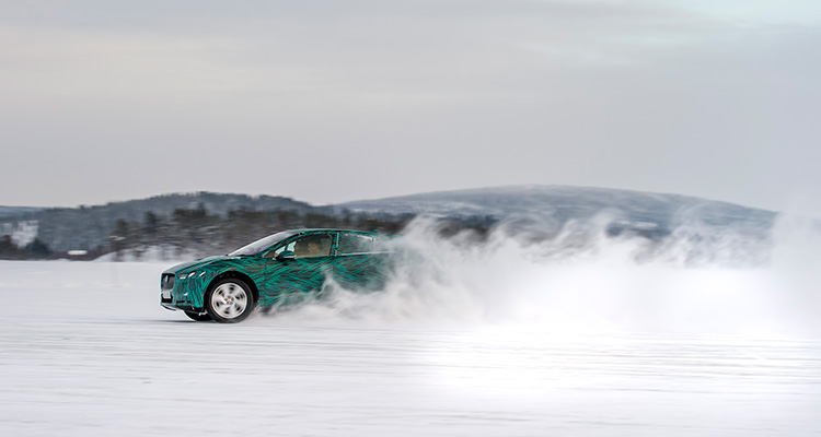 Jaguar I-Pace Winter testing side