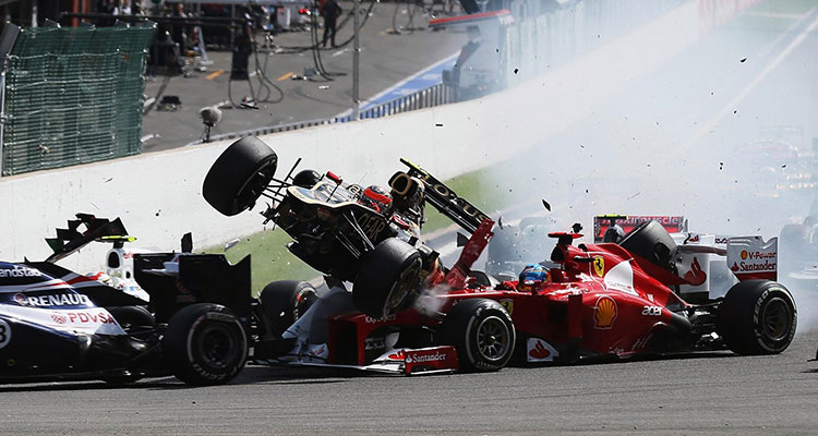 2012 Belgian GP crash