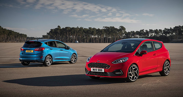 2018 Ford Fiesta ST BLue Red