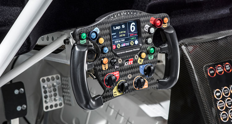 Toyota Supra Racing Concept steering-wheel