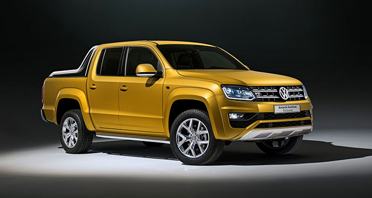 VW Amarok Front Side yellow
