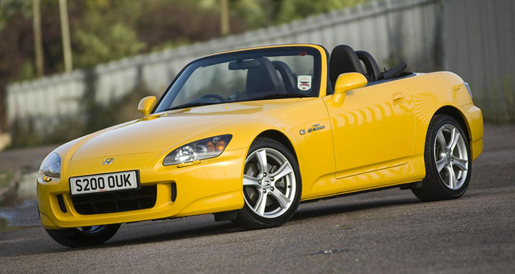 Mazda MX5 yellow side