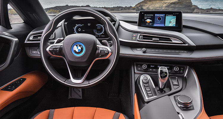 BMW i8 Convertible interior