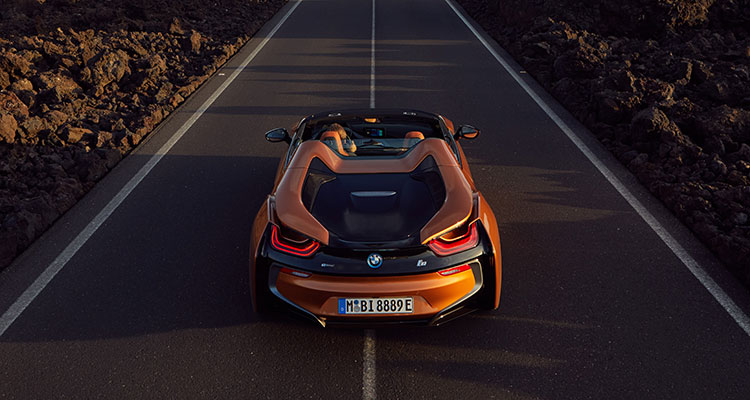 BMW i8 Convertible rear 2