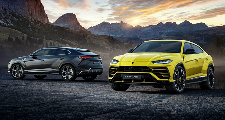 Lamborghini Urus front and back