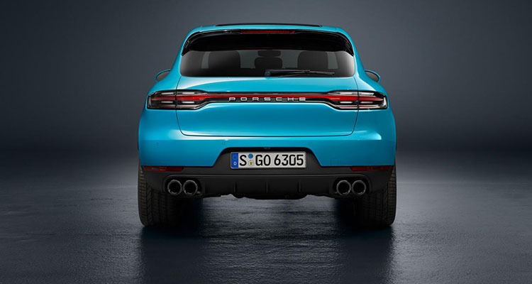 Porsche Macan revealed rear
