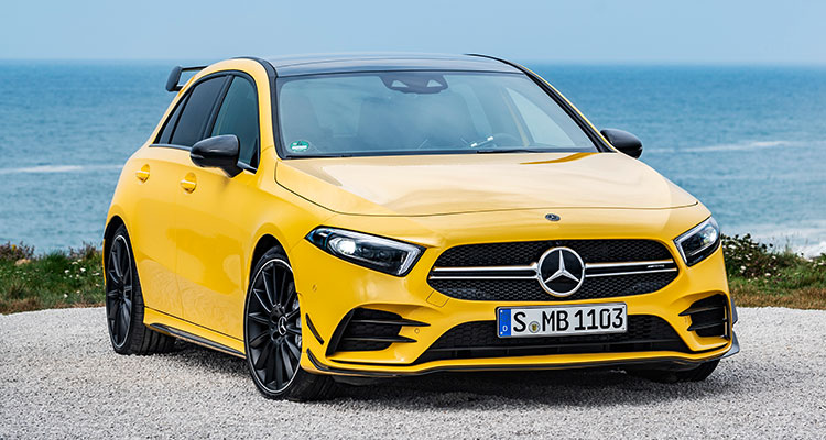 New Mercedes-AMG A35 front 1