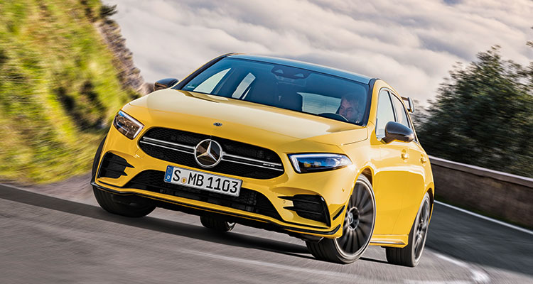 New Mercedes-AMG A35 front 2