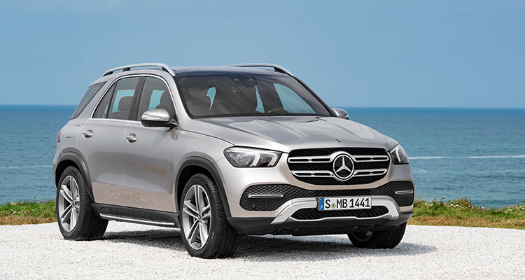 New Mercedes GLE 2019 front side 1