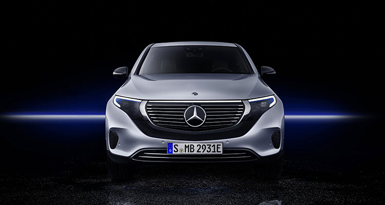 Mercedes Benz EQC front view