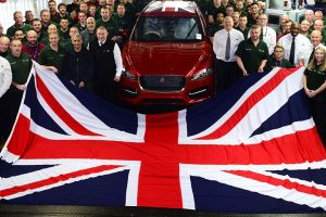 jaguar land rover British Flag