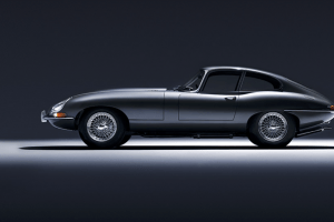 Jaguar E Type Zero side view