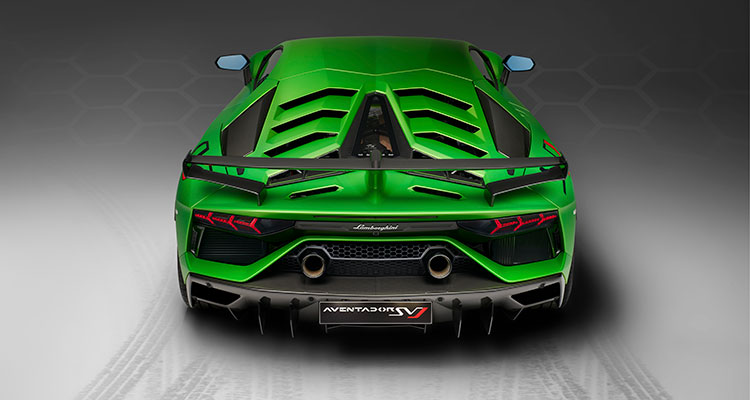 Lamborghini Green rear