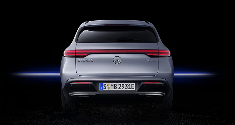 Mercedes Benz EQC rear view