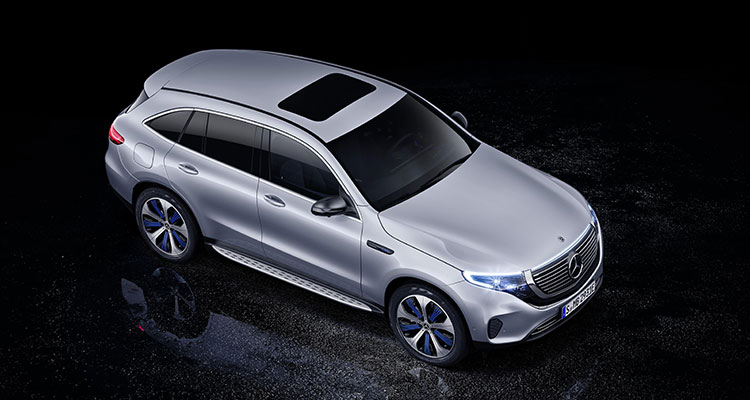 Mercedes Benz EQC top view