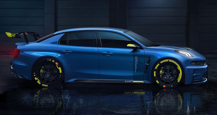 Lynk & Co Hint at 500bhp Hot Saloon Racer side
