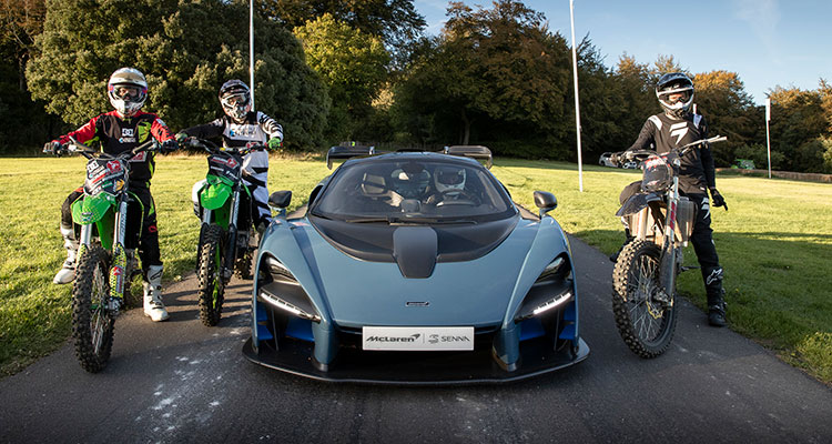 McLaren Senna vs motorcross race 1