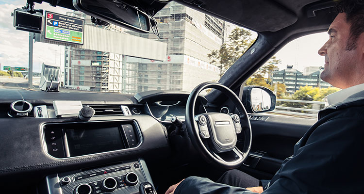 Self-driving Range Rover Sport 3