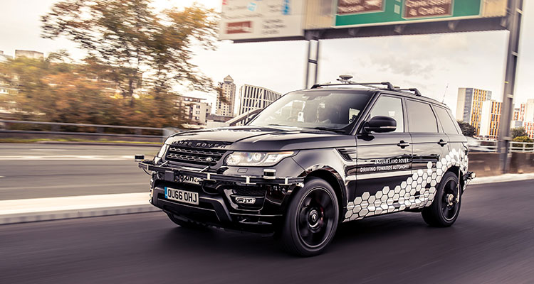 Self-driving Range Rover Sport 4