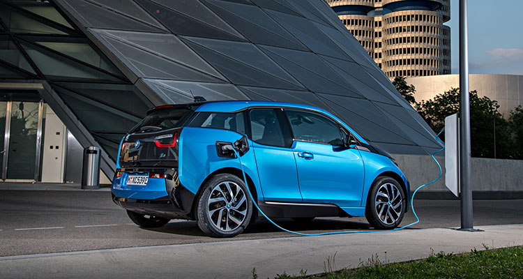 BMW i3 Electric Car EV charging side