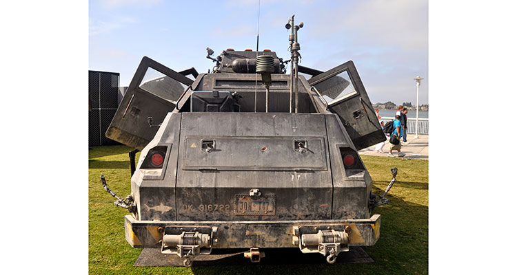into the storm movie Titus storm chaser vehicle rear