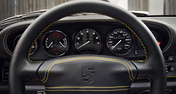 porsche project gold 993 turbo 911 classic interior leather gold