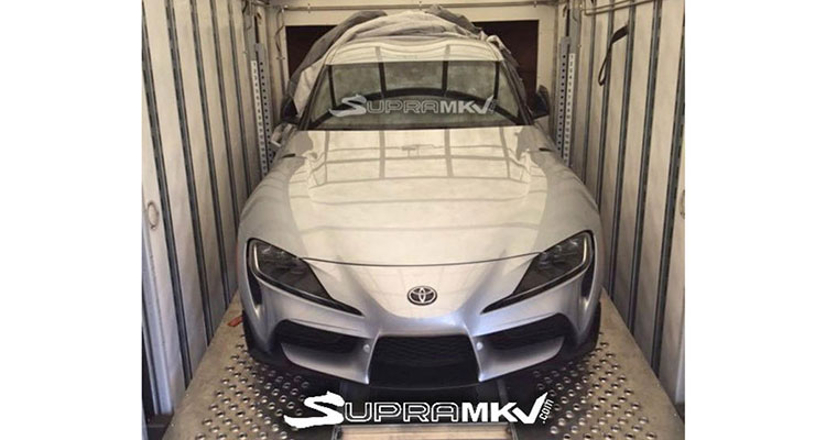 Leaked image of the 2019 Toyota Supra
