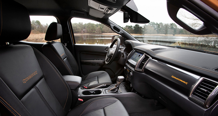 2019 Ford Ranger Wildtrak interior 1