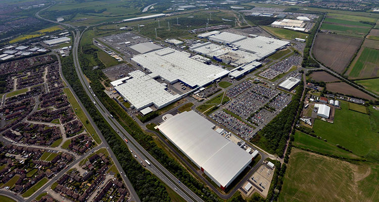 NMUK Nissan Sunderland Plant from air